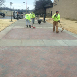 Anne Arundel Community College pervious paver walkway