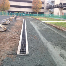 New roadway and French drain Towson University
